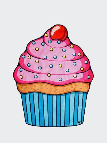 BIGMOUTH 美國造型海灘墊 - 杯子蛋糕款