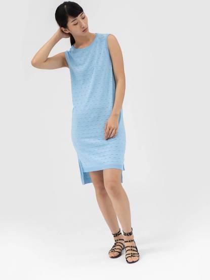 AUSTIN.W 針織洋裝 - 淺藍