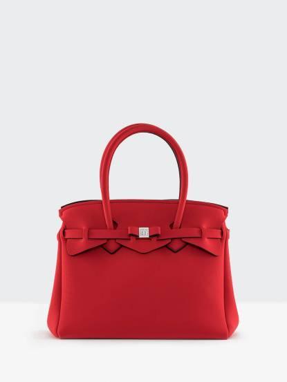 SAVE MY BAG MISS 系列亮紅色蝴蝶結裝飾帶