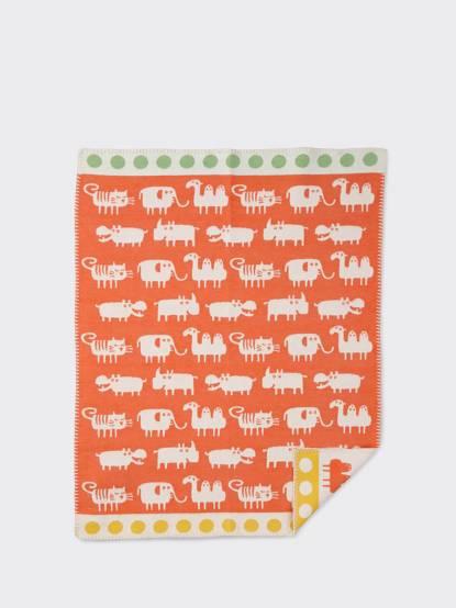 KLIPPAN 舒柔純棉毯 - 小非洲 / 橘色