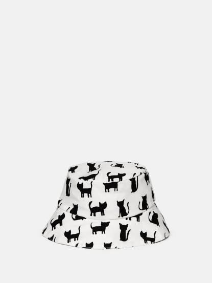 trixie 有機棉遮陽帽 - 黑白貓咪