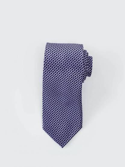 MICHAEL KORS 顯色格紋領帶 - 紫色