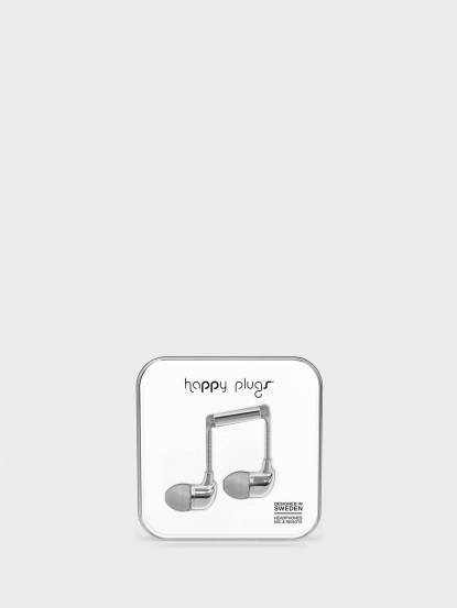 happy plugs 音符入耳式耳機 奢華限定款 - 銀