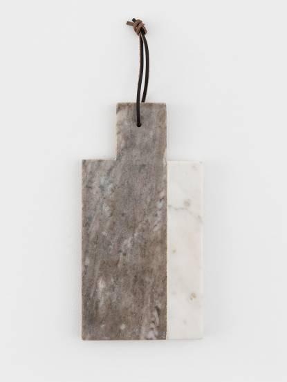 常室 灰白撞色大理石盤 - 長方