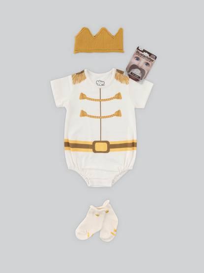 日安朵朵 男嬰經典禮盒組 - 白馬王子 / 短袖