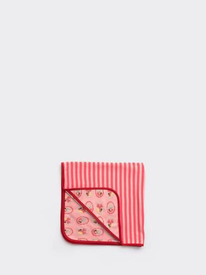 LITTLE GREEN RADICALS 有機棉嬰兒毯包巾禮盒 - 粉紅貓咪
