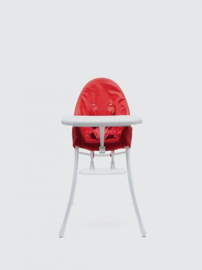 bloom nano 可折疊都會風白框餐椅 -  搖滾紅