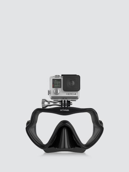 OCTOMASK Freediver Dive Mask GoPro 基本潛水面罩 - 黑