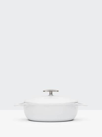 UNILLOY 世界極輕琺瑯鑄鐵鍋 - 24cm  / 簡約白