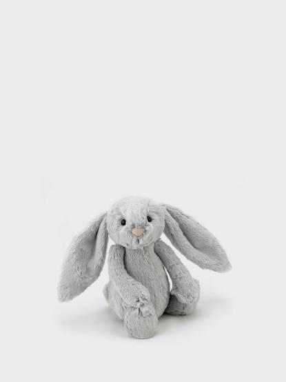 JELLYCAT Bashful Silver Bunny 兔 - 18cm