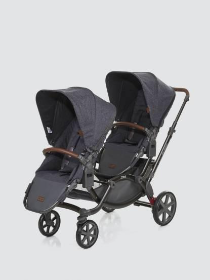 ABC Design 2018 ZOOM 嬰兒雙人推車 - 高階皮革版 / 尊爵灰