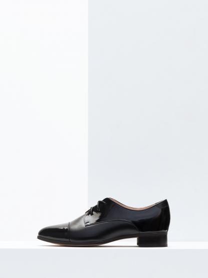 T FOR KENT NOT OXFORD 不是牛津系列 - 黑漆皮德比鞋