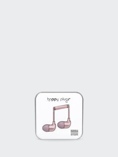 happy plugs 音符入耳式耳機 奢華限定款 - 粉紅金