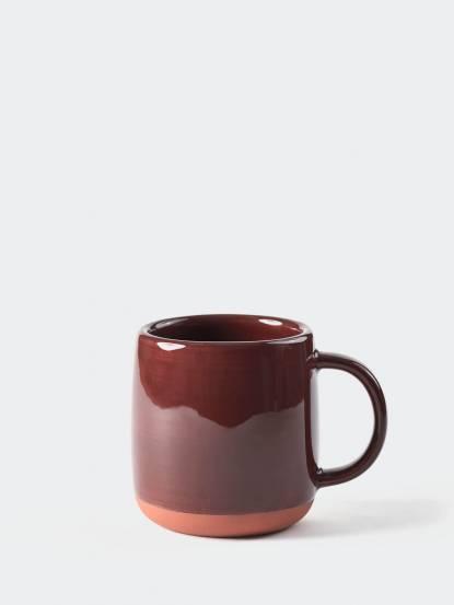 TZULAï 紅陶釉燒馬克杯 - 刷釉棕