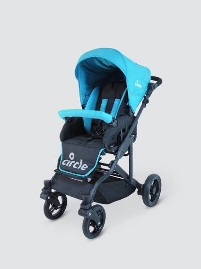 Circle Torino 4S 德式雙向平躺型推車 - 珊瑚藍