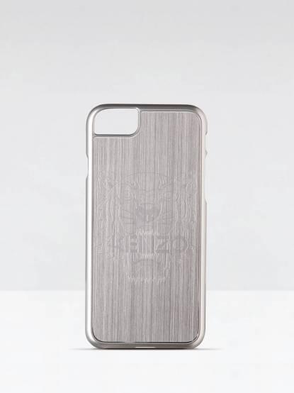 KENZO 鋁合金材質虎頭圖案 iPhone 7 plus 手機殼 - 銀