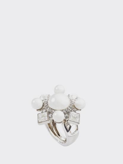 GLY 戒指 Pearl Cascade White Gold - 銀
