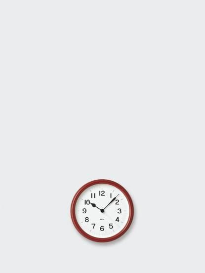 Lemnos MIKI 木紋桌鐘 - 酒紅色