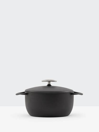 UNILLOY 世界極輕琺瑯鑄鐵鍋 - 22cm  / 消光黑