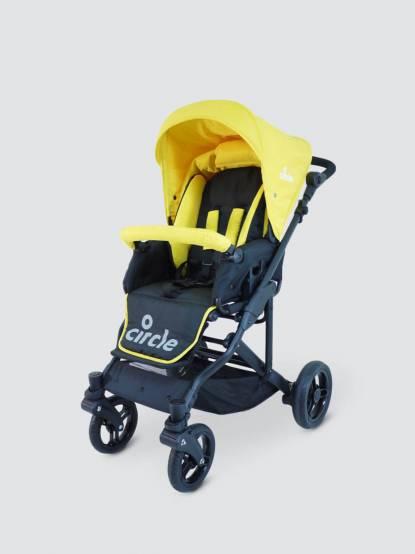 Circle Torino 4S 德式雙向平躺型推車 - 柳橙黃