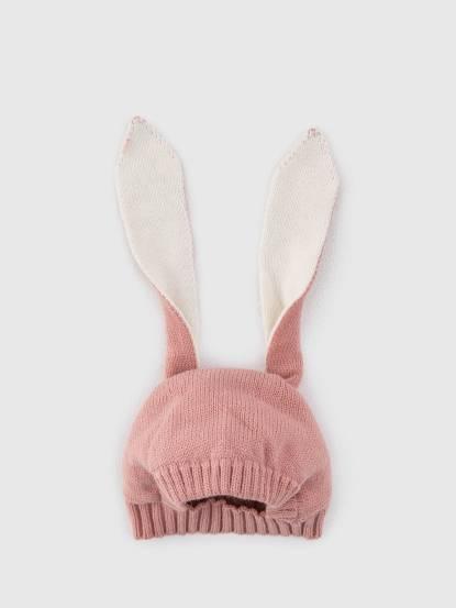 日安朵朵 嬰童帽子 - 長耳兔 / 粉紅