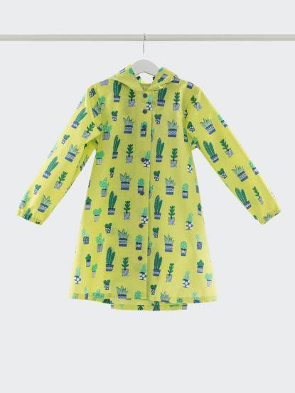SweetThing 小小仙人掌黃綠色兒童風雨衣