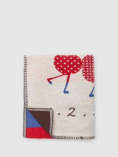 David Fussenegger 毛毛蟲列車 - 嬰童四季有機綿毯