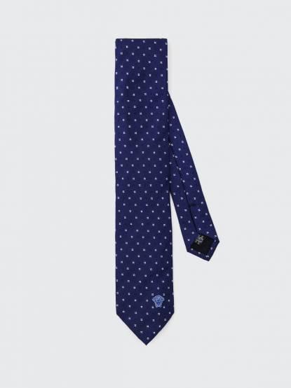 VERSACE 深藍小碎花領帶