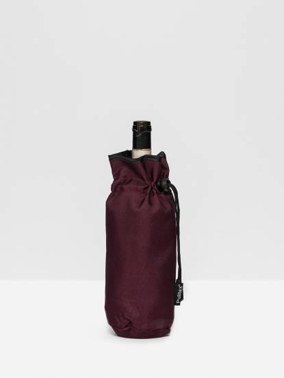 Pulltex 葡萄酒束口保冷袋 - 酒紅色