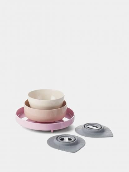 BONNSU Miniware 天然寶貝碗 竹纖維兒童餐具五入組 - 俏皮巴黎人