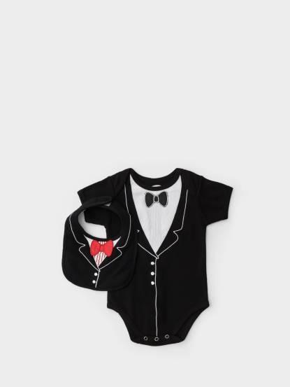 Frenchie mini couture 男嬰禮盒組 - 李傲納多紳士版 / 短袖