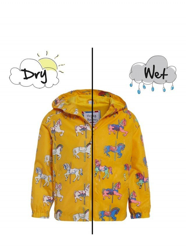 Holly & Beau 神奇變色雨衣 - 黃色飛馬