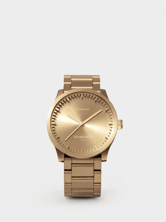 LEFF amsterdam tube 北歐工業齒輪設計腕錶 - 42 mm 閃耀黃銅 / 黃銅鋼帶