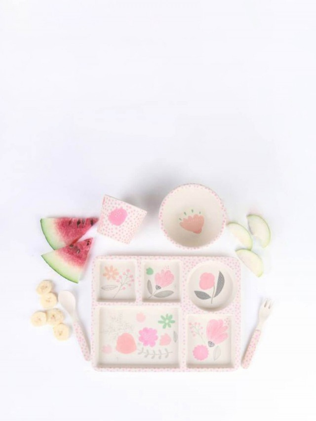 love mae 竹纖維餐具 5 件組 - 花園饗宴