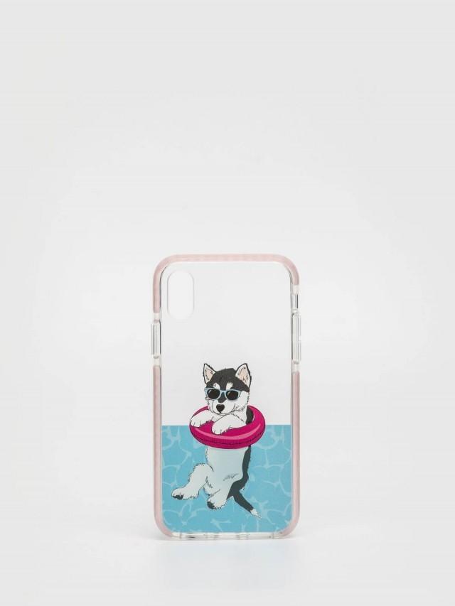 CASETiFY iPhone X 游泳哈士奇手機殼
