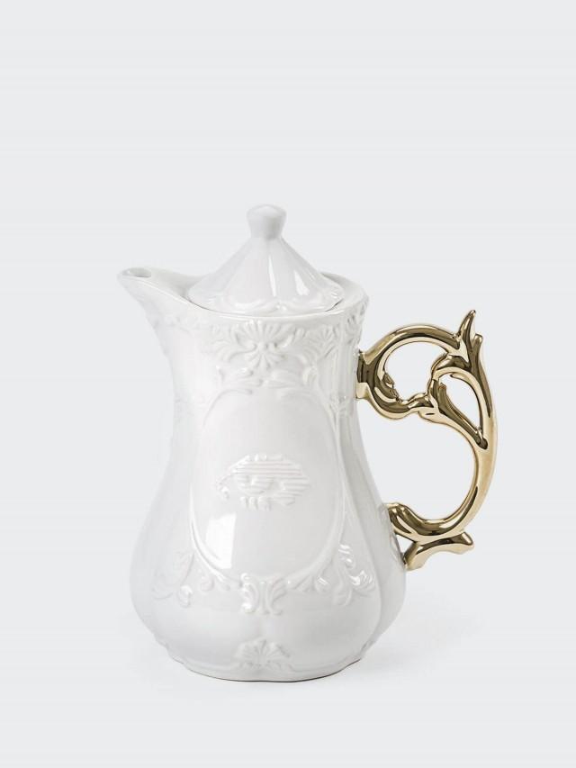 SELETTI 金色把手古典茶壺