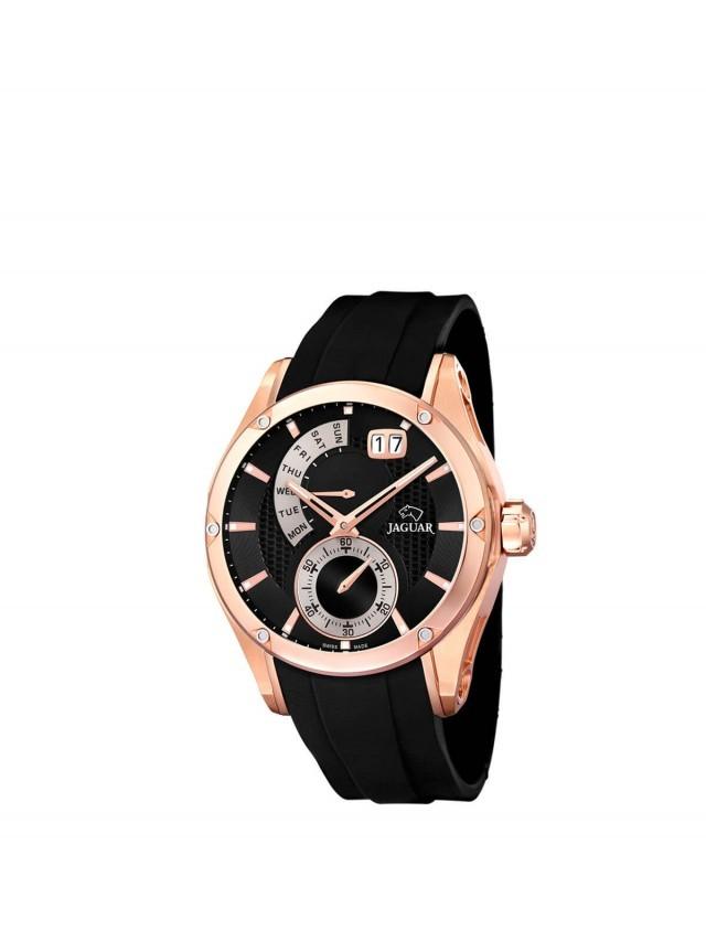 JAGUAR J679 - 星期顯示石英錶 x 橡膠錶帶