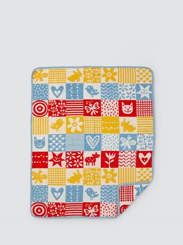 KLIPPAN 有機棉毯 - 北歐拼貼