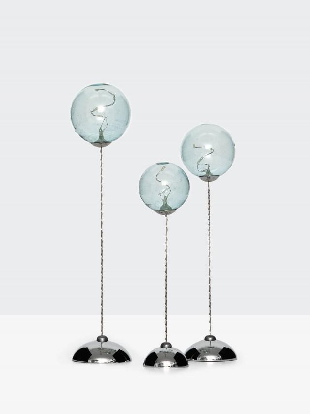 SIRIUS 藍色透明球燈三件組( 遙控 )
