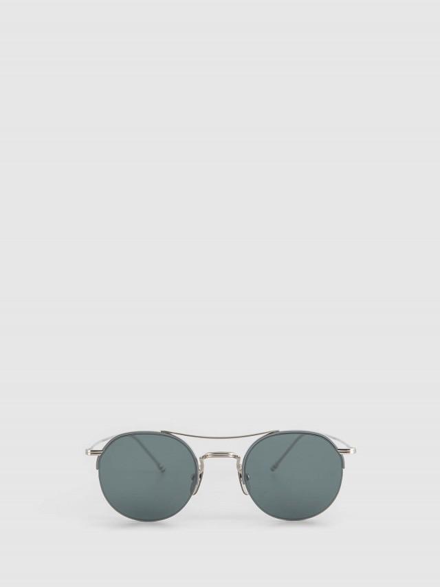 THOM BROWNE 銀色復古光學眼鏡