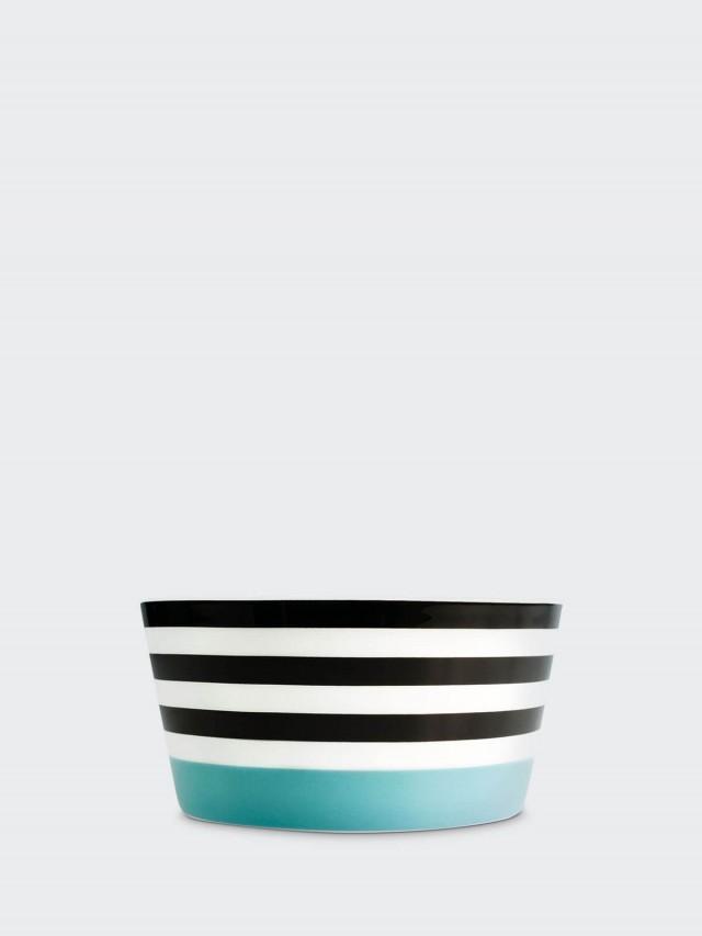REMEMBER Muesli bowl - Black Stripes 骨瓷早餐碗 x 藍黑條紋