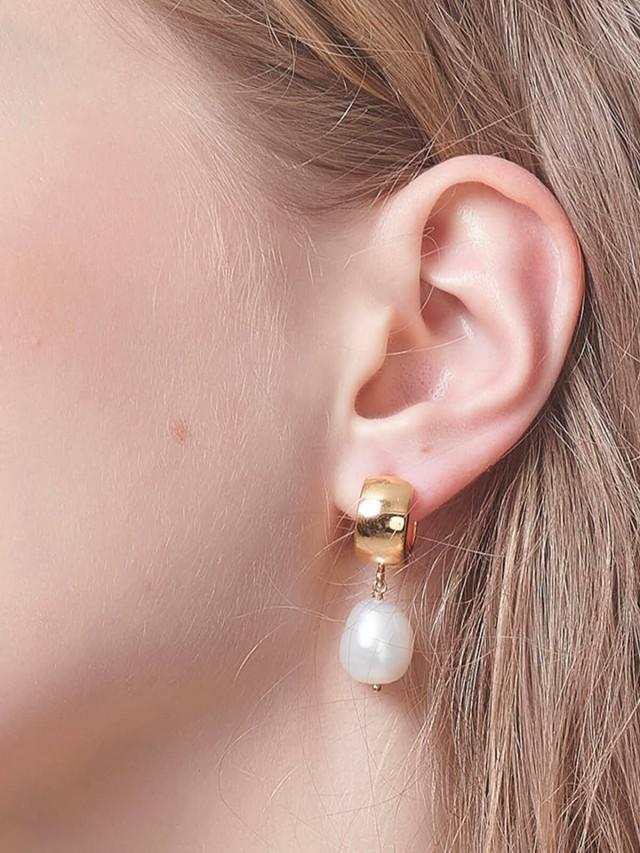 LESIS 耳環 - Vintage Baroque Pearl Earrings
