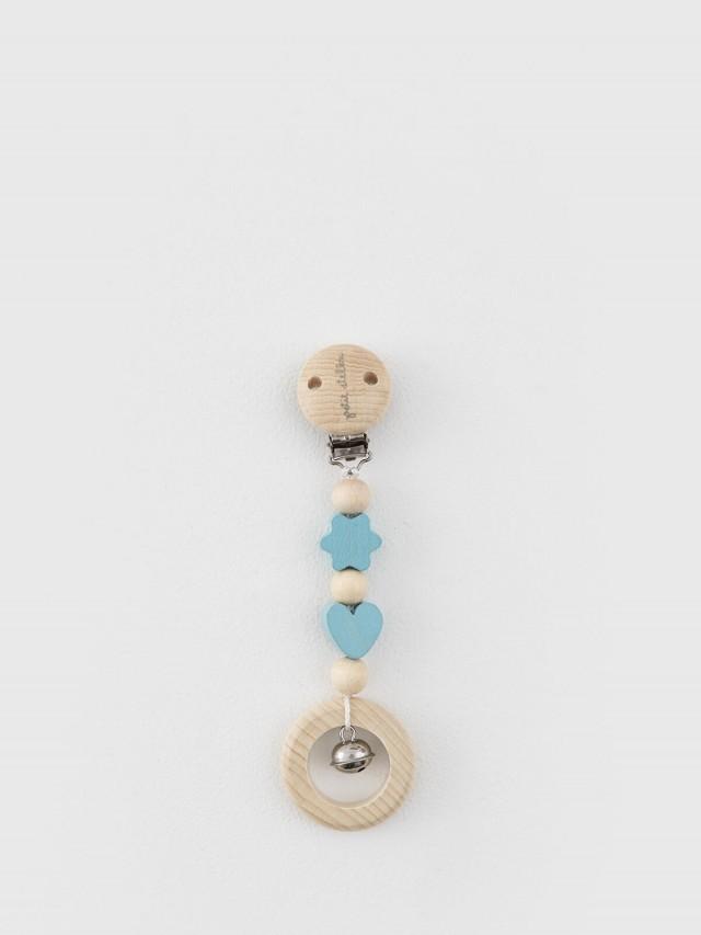 Petit Stellou 木質夾式搖鈴 - 天藍