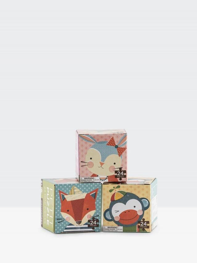 petit collage 小拼圖三入組 - 兔子 / 猴子 / 狐狸