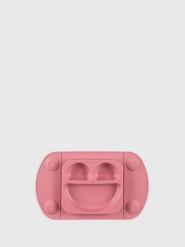 EasyTots EasyMat Mini 防滑矽膠餐盤組 - 莓果粉