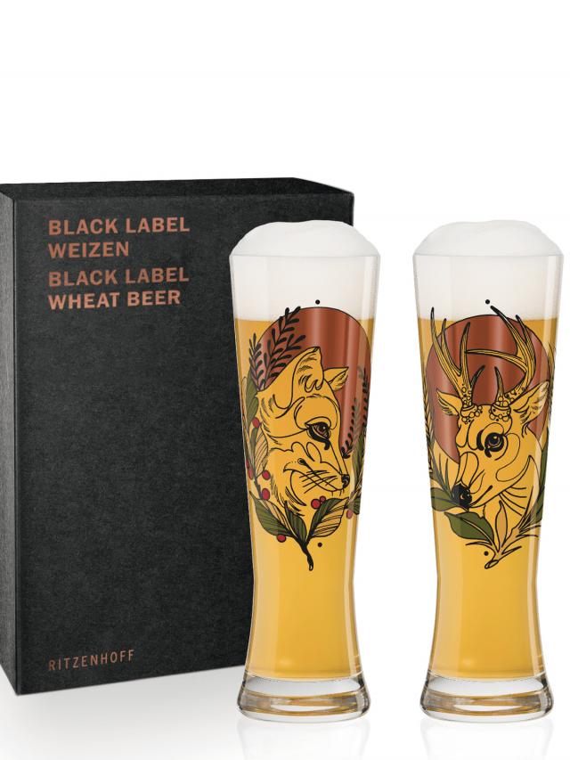 RITZENHOFF BLACK LABEL WEIZEN 黑標小麥啤酒對杯 / 狐狸與熊鹿