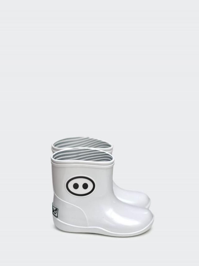 BOXBO 雨靴 - 小豬齁齁 / 純真白