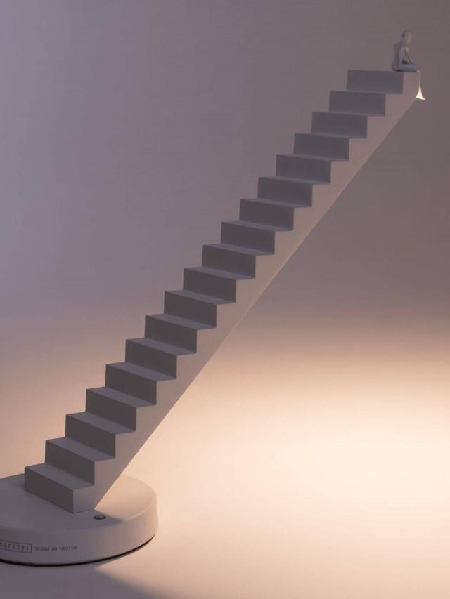 SELETTI 階梯小人造型桌燈(白)