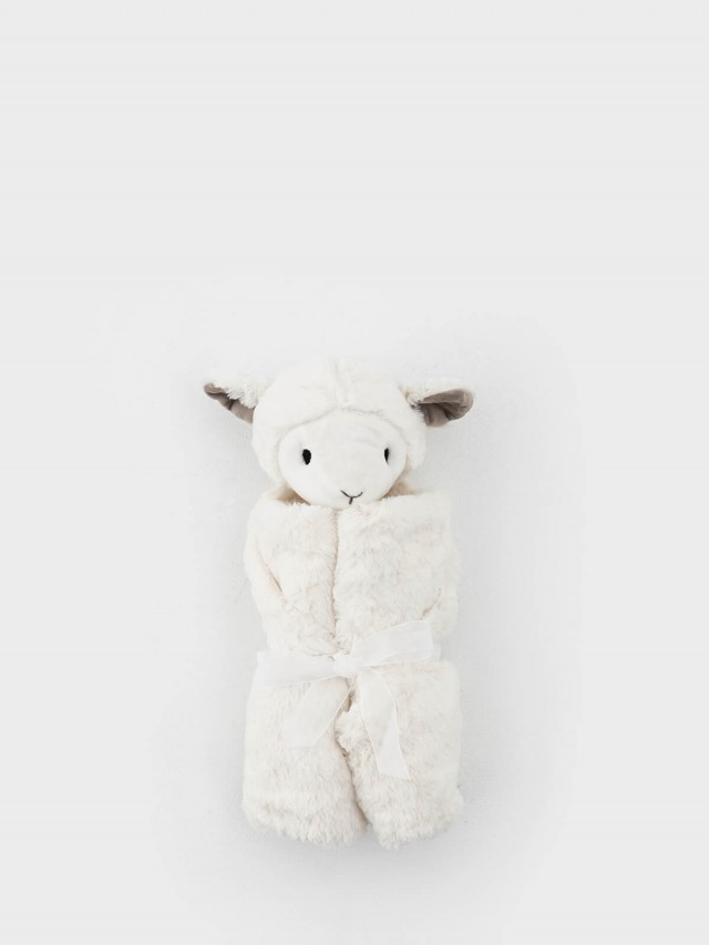 Quiltex 超柔軟動物嬰兒毯安撫毯 - 奶白小羊