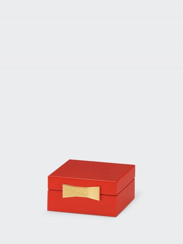 kate spade 經典普普多彩飾品盒 - 紅色